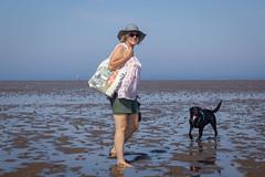 Sarah and Scarpa (alasdair massie) Tags: labrador wash beach dog black snettisham vizsla sea norfolk seaside sarah scarpa uk
