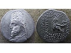 Orodes I barbarous drachm (Baltimore Bob) Tags: ancient coin money silver drachm persia persian parthia parthian arsacid arsakid orodes i barbarous