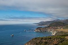 Big Sur Coast (Oleg S .) Tags: rock usa bigsur nature water cloud california cliff sea