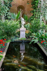 Belton Orangery Nymph (Bruce Poole) Tags: brucepoole eastofengland 2019 brucesspace eastanglia otherkeywords reflection reflet pool reflectinganymph fishpond statue statues botanicalgarden nationaltrust nt beltonhouse lincolnshire