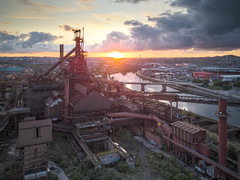 industrial cathedral (jkatanowski) Tags: urbex urban exploration europe sunset industry industrial postindustrial landscape outdoor drone rust ruined abandoned forgotten