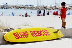 French Baywatch (kceuppens) Tags: baywatch fun humor surfrescue nikon d7000 nikkor 24120 france camargue nikond7000 nikkor24120f4vr sea surf surfboard surfing water surfplank