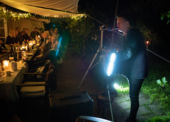 Birthday in the garden (1): KH Ørum sings (bohelsted) Tags: em5markii home party family leicadg summilux 15mm khørum music live