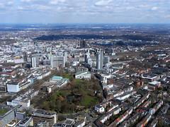 Blick auf das Zentrum von Essen (Carsten Weigel) Tags: nrw rundflug carstenweigel panasonicg9 panasonic14140mmf3556 essen zentrum city innenstadt