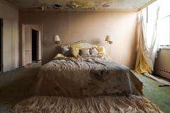 Presidential Suite Bedroom (michaelbrnd) Tags: abandoned ski resort urbex urban exploration