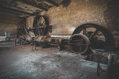 Big wheels keep on turning... (nickw_photography) Tags: urban exploring urbex abandoned art dark lost old industry industrial forgotten factory