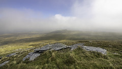 Yes Tor with a view to Westmill tor (sweeny1963) Tags: mist dartmoor granite rocks tors wildness openspace