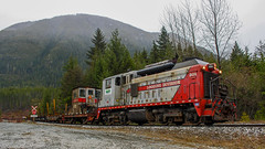WFP 301 ~ Camp A Reload (Chris City) Tags: train railway railroad switcher logging forestry abandoned sw1200 wfp canfor industry woss vancouverisland