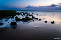 sunset in Borkum (.D..B.) Tags: nikon d7000 sigma ys widerama 18mm nd long exposure borkum germany beach sunset water