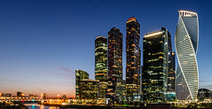 Moscow city (ru13r) Tags: moscow russia summer city life cityscape dusk evening lights louds москва сити россия вечер