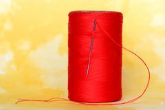 Goes Together Like (Macro Mondays) Needle and Thread 08-25-19 (MelenaMe) Tags: macromondays thread needle threadandneedle goestogetherlike sew sewing needleandthread