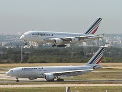 Air France                   Airbus A330 and A380                                         F-GZCM   F-HPJD (Flame1958) Tags: airfrance airfrancea380 airfrancea330 airfranceaircraft 2airfranceplanes airbusa380 a380 380 fhpjd airbusa330 a330 330 aibus fgzcm pariscdg cdg charlesdegaulleairport france 220819 0819 2019 7984