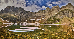 Iceberg Lake pano (Valley Imagery) Tags: glacier national park montana usa america iceberg lake ice panorama summer water mountain clouds sony a99ii tamron 1530 slik amt 700dx