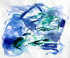 Impossible Beauty of Water (Suz .. Abstract Art) Tags: abstract art sea blue sapphire acrylic painting water beautiful mixedmedia canvas contemporary color fresh diamond expressive love modern watercolor paint white joy oil happiness