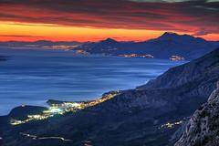 Adriatic Dusk (hapulcu) Tags: adriatic balkan biokovo croatia croazia horvatorszag hrvatska jadran makarska invierno winter
