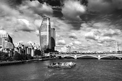 One Blackfriars (Derwisz) Tags: oneblackfriars thames london england uk skyline skyscraper city cityscape bridge building river blackriarsbridge blacandwhite monochrome