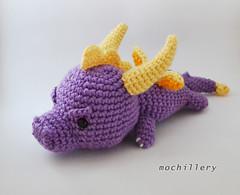 SS 19 dragon edit (mochillery) Tags: amigurumi crochet plushies cute handmade mochillery dragon spyro
