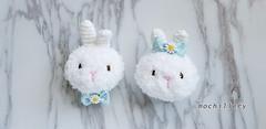 SS 19 bunny (mochillery) Tags: amigurumi crochet plushies cute handmade mochillery bunny bow ribbon