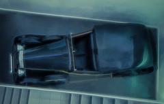 In a Tight Corner (Steve Taylor (Photography)) Tags: digitalart museum blue black green uk gb england greatbritain unitedkingdom london bondinmotionjamesbondexhibition londonfilmmuseum rollsroycephantomiii car jamesbond