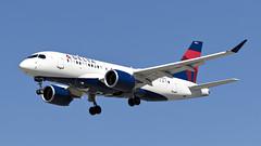 085A9139 Delta A220/CS100 N104DU arriving KSJC (midendian) Tags: aircraft airport airplane ksjc sjc sanjoseinternational