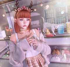 #313 Bad kitty threw down my ice cream (NuriaNiven) Tags: laq wasabi andore chuing avada pink fuel oleander pixicat equal realevil halfdeer disordely bento mesh second life sl avatars lotd cute kawaii lookbook fashion blog blogger redhair freckles