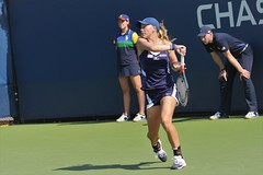 norland d. cruz photography: tennis player johanna larsson of sweden returns ball during her qualifying match versus dutch lesley kerkhove at the 2019 us open in new york (norlandcruz74) Tags: telephoto telefoto lens zoom 70300mm afs nikkor d7200 dx dslr nikon gear iso high fast speed shutter shutterbug photographer american filipino pinoy cruz norland meadows flushing queens newyork ny major tournament event slam grand grandslam summer august 2019 usopen usta wta sports sport womens singles swede sweden player tennis johanna larsson