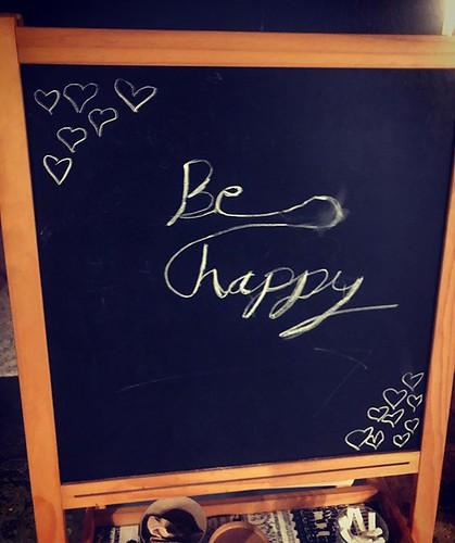 Miss Niece left us an inspirational message. #mondaymotivation #behappy
