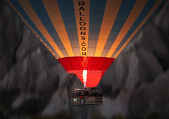 Ascent (HWHawerkamp) Tags: göreme cappadocia balloons hotair travel fire climbing graphics abstract people motion