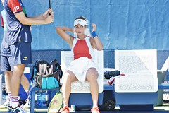 norland d. cruz photography: tennis player anna kalinskaya of russia takes a break during qualifiers at the 2019 us open in new york (norlandcruz74) Tags: annakalinskaya78 dslr adidas beautiful beauty gorgeous telefoto telephoto lens zoom afs nikkor d7200 dx nikon gear shutterbug photographer american filipino pinoy cruz norland queens meadows flushing newyork ny tournament event major slam grand grandslam summer august 2019 usopen usta wta singles womens player tennis russian russia kalinskaya anna