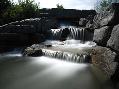 Small Waterfall (DaveKav) Tags: waterfall montreal white whitewater flow fall longexposure parcmontroyal montroyal slow slowmotionrunningwater calm calmness park waterfeature peaceful relaxing canada rocks time smooth quebec flowing