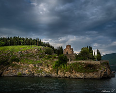 St.John the theologian, Ohrid (Adrian.L SnapJoy) Tags: stjohn church orthodox lakes cloudy sunset ohrid macedonia europe balkan inexplore flickr sonya7 zeiss photografy mountains ride boat