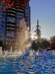 Fountainous terrain. (thnewblack) Tags: huaweip30pro leicaoptics outdoors fountain sunlight smartphone cameraphone apartmentlife britishcolumbia googlephotos