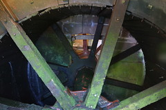 Photo of Stretton Water Mill, near Holt, Cheshire - the breast-shot wheel