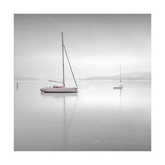 Calm (GlennDriver) Tags: white black bw bnw long exposure lake calm boat water switzerland europe canon nd minimal blackandwhite fineart bnwphotography tranquil