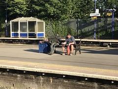 Photo of Sir Nicholas Winton and Friend, Maidenhead Station