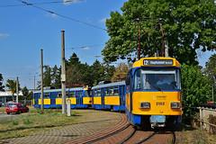 Tatra T4D-M #2102 LVB Leipzig Lipsk (3x105Na) Tags: tatra t4dm 2102 lvb leipzig lipsk strassenbahn strasenbahn tram tramwaj deutschland germany niemcy sachsen saksonia