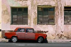 Ob-Ladi, Ob-Lada (emerge13) Tags: cuba lahabana lada vintagecars oldcars centrohabanacuba walls decay urbandecay decaying architecture