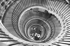 Stairway to Heaven (Franck.Robinet) Tags: bw bnw stairway staircase stairs step monochrome escaliers spiral spirale bordeaux intendant architecture