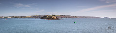 Drakes Island, Plymouth from Devil's Point - panorama (pgosling1979) Tags: drakes island plymouth sound sea water panorama st micheal nicholas chapel devon river tamar