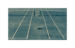 Match point ! (CJS*64) Tags: lytham lancashire cjs64 craigsunter cjs panasonic panasoniclx100 lx100 crossprocessing whiteborder daytripper tennis court lines nets matchpoint