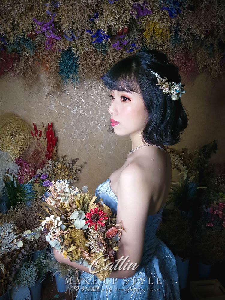 【新秘Catlin】新娘造型創作 / 短髮-甜美造型