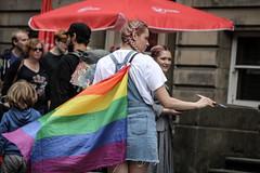 Sell Prefer not to Say (Terry Moran aka Tezzer57) Tags: edinburghfringe girl scotland edinburgh promotion street promote summer2019 rainbowflag fringe prefernottosay uk