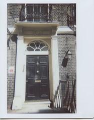 Downing Street? (Myahcat) Tags: instant instantwide lomo instax instaxwide film analogue london summer adamstreet 10 ten downingstreet doppelgänger twin door