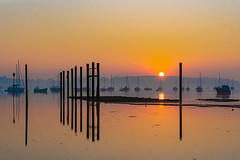 Pin Mill at sunrise (ssimple44) Tags: pinmill orwell boats moorings sunrise suffolk babergh ilce7rm3 riverorwell