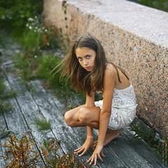 Mel. (matveev.photo) Tags: girl white wind legs look hair child portrait people photography face squareformat hands teenage teen matveev art eyes young