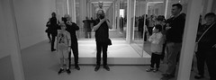 Terracotta Warriors Selfie (@fotodudenz) Tags: hasselblad xpan film rangefinder 30mm ultra wide angle panorama panoramic 2019 35mm melbourne victoria australia national gallery terracotta warriors exhibition ilford hp5 plus