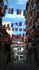 BENIDORM PRIDE - SEPTEMBER 2018 (CovBoy2007) Tags: spain espania spanish costablanca benidorm mediterranean med benidormpride pride bunting rainbowflag rainbow flag