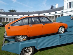 (Uno100) Tags: citroen gs gsa x orange green hp truck car show soestdijk 2019 front grille dark netherlands holland concours de elegance double chevron