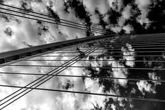 Suspension (Gullivers adventures) Tags: bridge sky bnw blackandwhitephotography abstract steel suspension blancoynegro black white blackandwhite blackwhite moody fine art flickr explore adventure