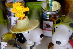 Woodstock and Snoopy(s) (dagboshoots) Tags: snoopy woodstock travelling travel secondhandstore australia toys yellow